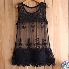 This is a beautiful sheer tank. With another tank underneath it would be very pretty.