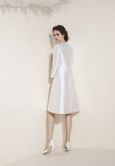Essentia | Tosca Spose White Dress, High Neck Dress, Wedding Dresses, Collection, Fashion, Turtleneck Dress, Bride Dresses, Moda, Bridal Gowns