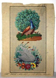 Berlin Woolwork Patterns Vintage Cross Stitches, Vintage Embroidery, Embroidery Patterns, Mini Cross Stitch, Cross Stitch Charts, Victorian Pattern, French Pattern, Craft Patterns, Pattern Making