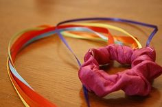 Olives and Pickles: Silk Streamer with Ribbons