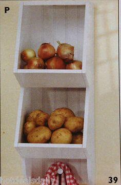 Space Saving Wall Storage Bin Kitchen Mudroom Laundry Potato Bin Catch All | eBay
