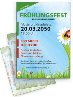 Flyer in farbenfrohen Layouts personalisieren. #farbenfroh #flyer #frühlingslayout #festflyer