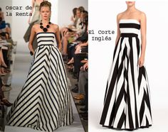 Luce un corte imperio, combinado con lineas verticales y diagonales Elie Saab, Zara, Strapless Dress Formal, Formal Dresses, Beautiful Outfits, Give It To Me, Maternity, Gowns, Couture