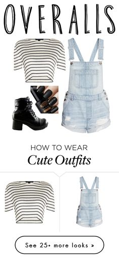 """""""Cute simple Outfit!"""" by maddylyn1 on Polyvore featuring H&M, Alexander Wang, TrickyTrend and overalls"""