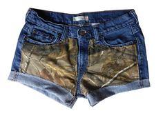 Realtree Girl Xtra Camo Shorts - Grace in LA   Camo Denim Jeans ...