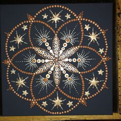 Original hand painted mandalas on framed canvas. Pointillism gone dotty. I've done many and varied a - Mandalas - original hand painted mandala dot design - Canvas Painting Designs, Dot Art Painting, Galaxy Painting, Painting Patterns, Mandala Art Lesson, Mandala Drawing, Mandala Painting, Mandala Design, Mandala Pattern
