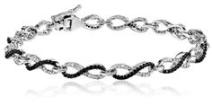 #blackdiamondgem 10k White Gold Black and White Diamond Infinity Bracelet (1 1/2 cttw), 7″by Amazon Curated Collection - See more at: http://blackdiamondgemstone.com/jewelry/bracelets/10k-white-gold-black-and-white-diamond-infinity-bracelet-1-12-cttw-7-com/#sthash.n9cdBeYj.dpuf