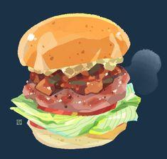 Cute Food Art, Funky Art, Food Drawing, Cartoon Design, Art Studies, Aesthetic Food, Food Illustrations, Game Art, Art Reference