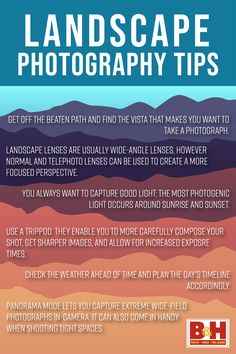 Tips for Landscape Photography Learn Photography, Landscape Photography Tips, What A Beautiful World, Beautiful Places, Landscape Lens, Best Landscape Photographers, Wide Angle, Live, How To Make