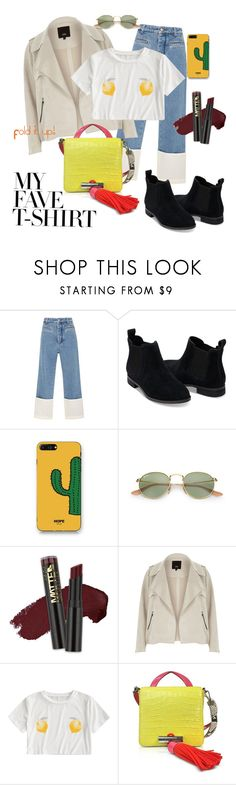 """""""Daily outfit looks~"""" by ardanikh ❤ liked on Polyvore featuring Loewe, TOMS, WithChic, L.A. Girl, River Island, Kenzo and MyFaveTshirt"""