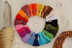 Mini Art Silk Tassels Handcrafted Beautiful by WomanShopsWorld
