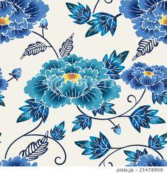Japanese Patterns, Japanese Prints, Floral Flowers, Pretty Flowers, Okinawa Tattoo, Japanese Taste, Chinese Element, Motif Design, Oriental