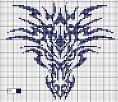 I printed a dragon chart found online and decided to knit a black sweater. I used the duplicate stitch to create the dragon face. Then finally I made the standard House Targaryen three-headed dragon sweater. Dragon Cross Stitch, Beaded Cross Stitch, Cross Stitch Charts, Cross Stitch Designs, Cross Stitch Embroidery, Embroidery Patterns, Cross Stitch Patterns, Crochet Dragon, Crochet Cross