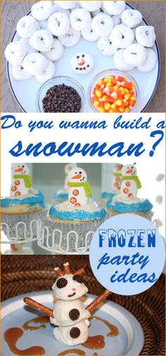 Frozen Birthday Party.  Great ideas for a girl or boy Frozen themed party.  Do you wanna build a snowman food ideas, Frozen party favors and Frozen party decorations.