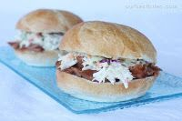 BBQ Pulled Pork Sandwiches - made in crockpot with seasoning and water...sauce added later