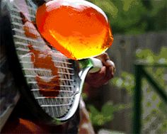 "sixpenceee: ""Jello through a tennis racket! "" sixpenceee: ""Jello through a tennis racket! Satisfying Pictures, Oddly Satisfying Videos, Satisfying Things, Looks Cool, Pretty Cool, Cool Pictures, Funny Pictures, Funny Pics, Funny Stuff"