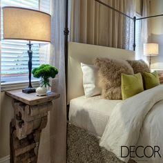 Diferentes materiais e texturas compõem com estilo e aconchego o décor do dormitório