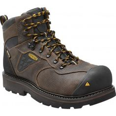2c89ec054499 Keen Men s Cascade Brown Tacoma Waterproof - Round Composite Safety Toe