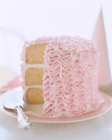 Ruffle Tower Cake