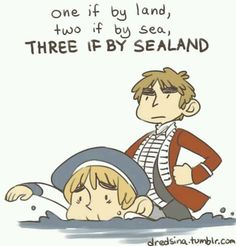 """One if by land Two if by sea Three if by SEALAND...""  I have no words to describe how hard I'm laughing right now XD"