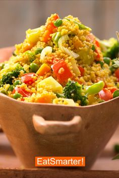 Low fat recipes: couscous vegetable pan EAT SMARTER – Fettarme Rezepte – Home Recipe Easy Dinner Recipes, Easy Meals, Healthy Snacks, Healthy Recipes, Clean Eating, Food And Drink, Nutrition, Cooking, Ethnic Recipes