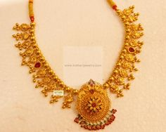 Necklaces / Harams - Gold Jewellery Necklaces / Harams at USD Gold Wedding Jewelry, Gold Jewelry Simple, Gold Jewellery, Quartz Jewelry, Jewelery, Jewelry Design Earrings, Gold Earrings Designs, Necklace Designs, Gold Designs
