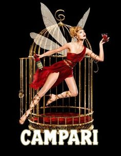 Vintage Bitter Campari Fairy Lithograph Advertisement Art Print by JA(c)anpaul Ferro - X-Small Vintage Italian Posters, Vintage Advertising Posters, Vintage Advertisements, Poster Vintage, Retro Posters, Cheap Advertising, Movie Posters, Vintage Wine, Vintage Labels