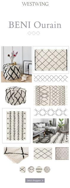 ◊Beni Ourain-Style◊: Der absolute Teppich-Trend! Warum Mode-Blogger gerade diesen Teppich lieben? Weil der handgeknüpfte Beni-Ourain-Stil mit seinen unregelmäßigen Rauten-Mustern so kunstvoll und clean zugleich wirkt. In der Interior-Szene hat sich das aus Marokko stammende Schmuckstück jedenfalls zu einem echten Topmodel unter den Teppichen und Poufs entwickelt. Wir zeigen Euch, wie vielseitig dieser Stil nicht nur im Design, sondern auch beim Einrichten ist. #BeniOurain #Teppich #Trend