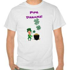 St. Patrick's Funny Lucky Leprachaun Pipe Dreamz Tees