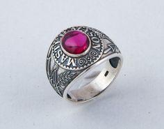 Varouxi  Master Mason Ring Masonic Ring Handmade by Varouxi