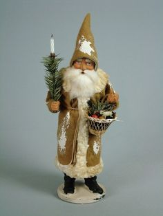"12""Paper mache*German  Santa* candy container *(tanned)by Paul Turner CS17-009"