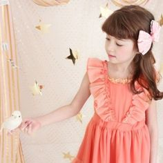 Vintage Inspired Girls Clothes Lace red dress for little girls   Vindie Baby