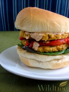 This is the newest addition to our Vegan/Vegetarian section of our recipes on the website!!   A Fajita Chickpea Burger!  SO delicious you won't even know its meatless!!  www.Facebook.com/wildtreeofficial
