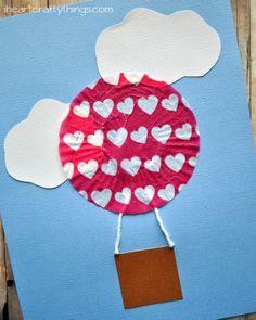 I HEART CRAFTY THINGS: Cupcake Liner Hot Air Balloon Kids Craft