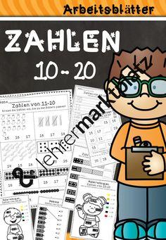 Zahlen von 10 - 20 Arbeitsblätter