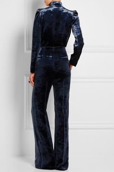 Sonia Rykiel   Cutout velvet jumpsuit   NET-A-PORTER.COM