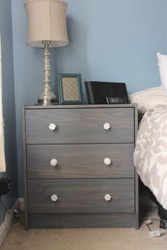IKEA dressers turned night stand!