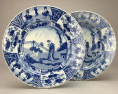 Online veilinghuis Catawiki: Kangxi stijl borden - Japan - 18e eeuw