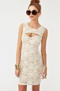 Cutout Crochet Dress