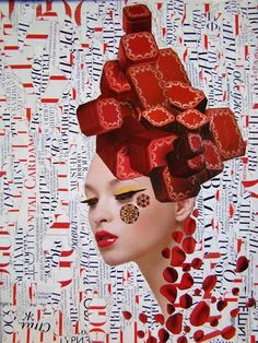 by Emilia Elfe | #mixed_media #collage