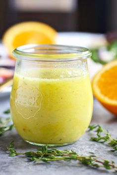 Citrus Vinaigrette with Thyme | https://therealfoodrds.com/citrus-vinaigrette-thyme/