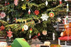 Кусудама Новый год Оригами Елка украшенная оригами-декором Бумага фото 3