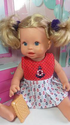vestido em tecido 100% algodão para boneca baby alive e little mommy