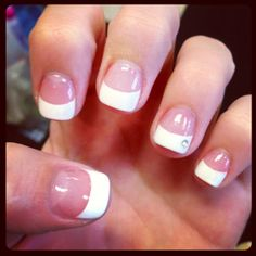 Acrylic Nails With French Tip - http://www.mycutenails.xyz/acrylic-nails-with-french-tip.html