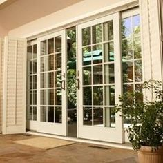 Looking for new trending french door ideas? Find 100 pictures of the very best french door ideas from top designers. French Doors With Screens, Sliding French Doors, Windows And Doors, Double Doors, Panel Doors, Sliding Glass Patio Doors, Double Patio Doors, Hinged Patio Doors, Screen Doors