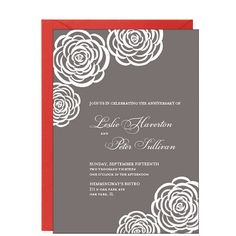 Roses Anniversary Party Invitation | Paper Source