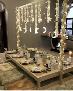 Diy Eid Decorations, Decoration Table, Balloon Decorations, Eid Crafts, Ramadan Crafts, Crafts For Kids, Decoraciones Ramadan, Eid Mubarek, Ramadan Background