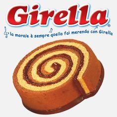 """Girella: un classico della merendina confezionata italiana. Il massimo per i piccoli (almeno per me lo era!) è """"srotolare"""" la spirale e leccare la cioccolata. Slurp! #ItalianoconRainyLondon"""