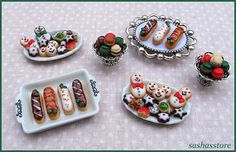 Miniature christmas cookies for your dollhouse by sashasstore