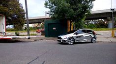 Chrome wrapped Ford Fiesta.